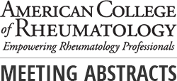 ACR Meeting Abstracts