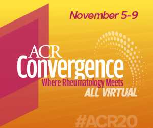 ACR Convergence: Where Rheumatology Meets. All Virtual. November 5-9.